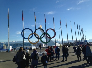 The Olympic Rings that are in virtually every visitor's new profile picture.