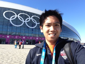 One of my many #SochiSelfies from these Olympics.