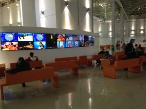 So many television monitors.