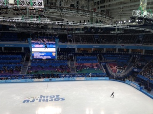 Inside the Iceberg Skating Palace for the Men's Free Skate.