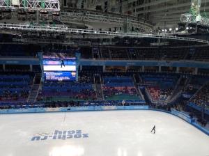 Inside the Iceberg Skating Palace for the Men's Free Skate.