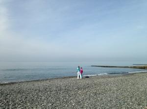 The Black Sea is actually pretty blue.