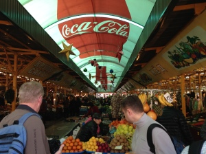 The local market in Adler, sponsored by Coca-Cola apparently.